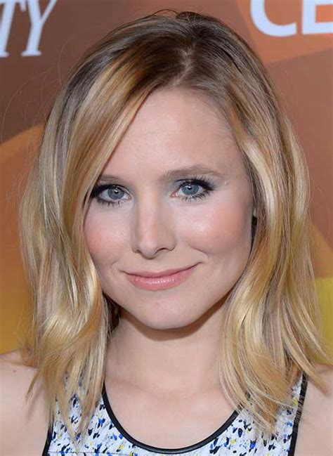 kristen bell bangs 2016 20 hairstyles for medium layered hair hairstyles