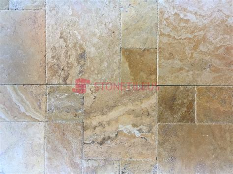 french pattern gold travertine tile gold brushed chiseled french pattern travertine tiles