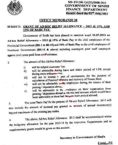 appointment letter ppsc sindh finance department notification adhoc relief