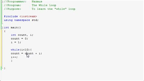 coding loop easy programming beginner c tutorial the quot while