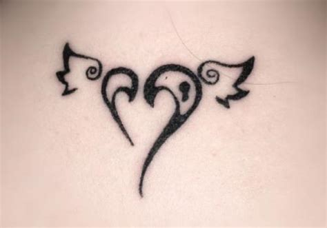 simple heart tattoos designs sweet n simple tribal sacred with wings