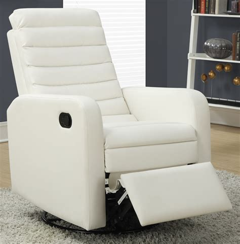 White Leather Swivel Recliner by Bonded Leather Swivel Glider Recliner With Horizontal