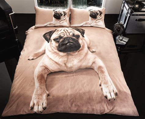 new pug new pug design single or bedding bed set boys quilt cover duvet ebay