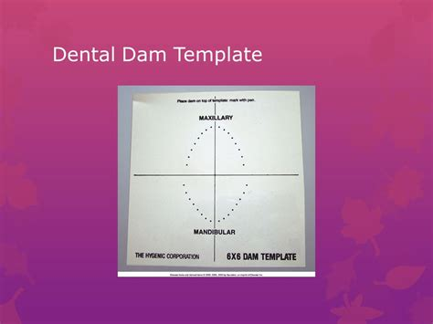 dental dam template isolation retraction and moisture ppt
