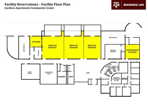 facility floor plan meeting reservations event coordination residence life