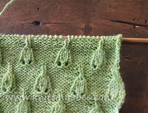bee stitch knitting bell stitch knitting pattern knitting bee