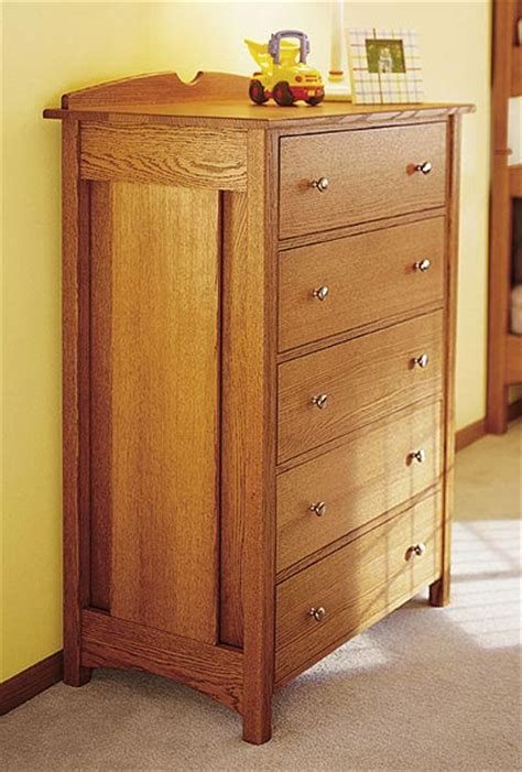 bedroom dresser plans kid s oak dresser woodworking plan from wood magazine