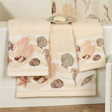 chapel hill design bathroom accessories seashore coastal bath towel set from chapel hill by croscill