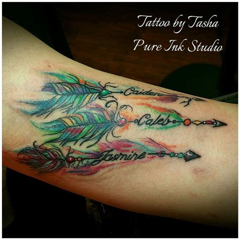 watercolor tattoo names watercolor arrows with birthstones