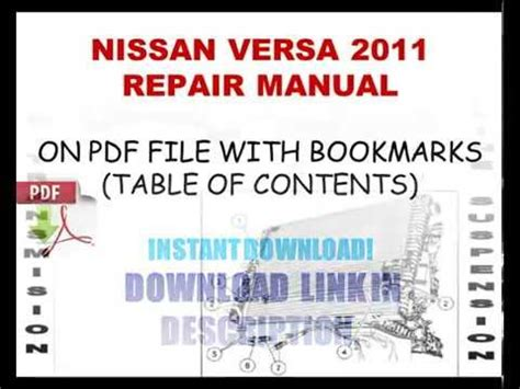 small engine service manuals 2011 nissan versa navigation system nissan versa 2011 service repair manual youtube