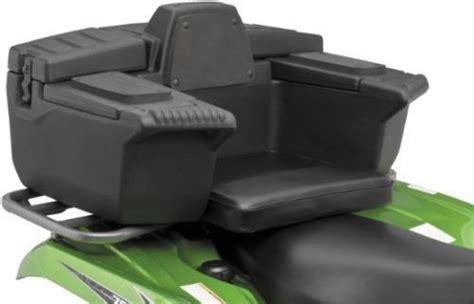 atv carrier seat quadboss atv rear rack lounger seat cargo storage trunk