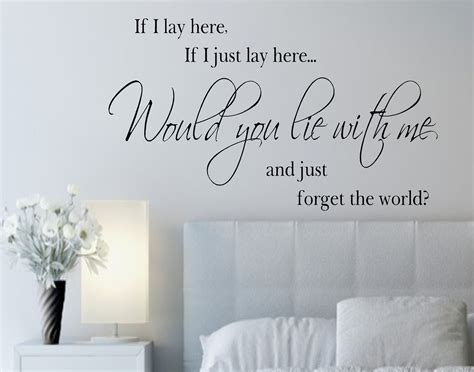 wall stickers lyrics if i lay here if i just lay here vinyl wall decals