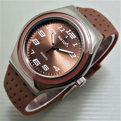 jual jam tangan priawanita murah swatch irony box