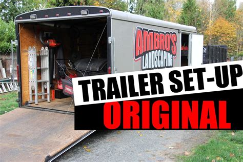 landscaping trailer accessories inspiring enclosed landscape trailer accessories 9
