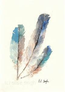 water color feather grow creative feathers in my yard