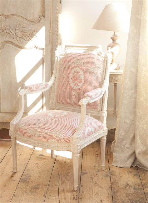 beautiful french bedroom chair with kate forman fabric 163 cameo ribbons tuscan pink kate forman