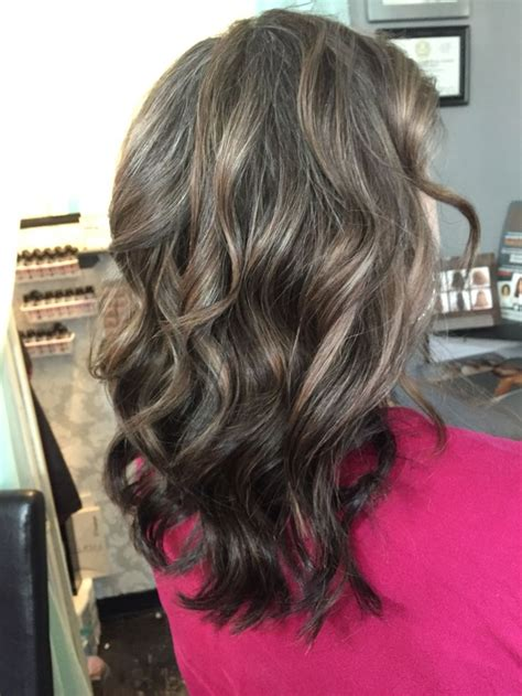 highlights to hide grey in darker hair ash gray highlights and dark ash base color by tayler