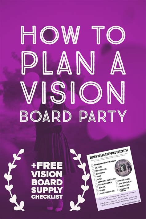How To Host A Vision Board Party Vision Board Party Decorations Vision Board Party Diy Vision Vision Board Invitation Template