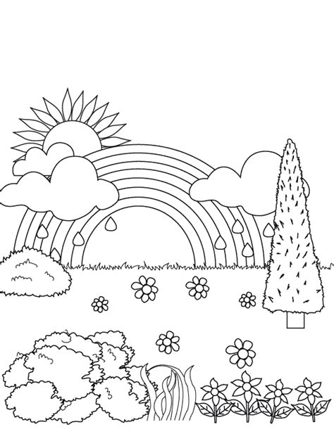 rainbow bridge coloring page free printable rainbow coloring pages for kids