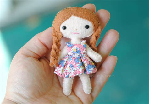 doll felt mini felt doll pattern lola the cutie pie pocket doll 4