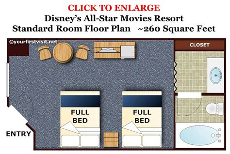 Disney Art Of Animation Floor Plan by Photo Tour Of A Standard Room At Disney S All Star Movies