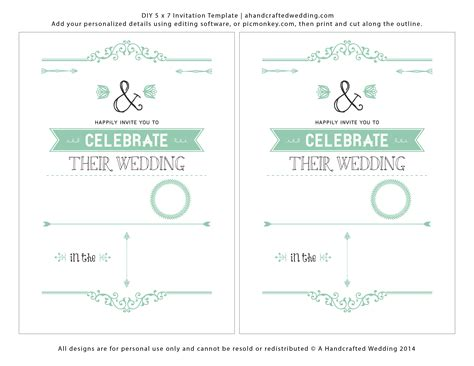 create template wedding invitation template free theruntime