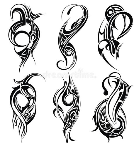 set of tribal abstract tattoos vector free download tribal tattoo set stock vector illustration of beauty