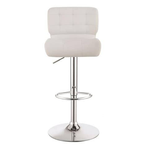 Reclining Bar Stool by Adjustable Bar Stool 100546 White Idea Furniture
