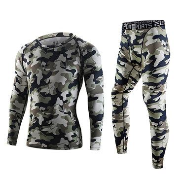 Camouflage Drying Compression Boxer camouflage sports fast drying suits mens pro