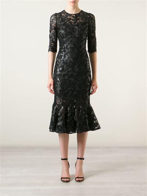 40486 Brocade Lace Knit lyst dolce gabbana brocade lace dress in black