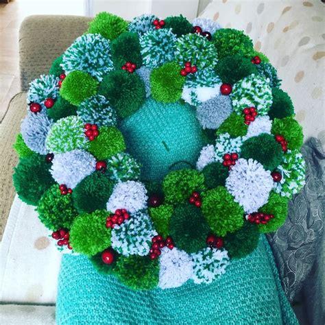 pom pom wreath diy wreaths pinterest pom pom wreath wreaths  craft