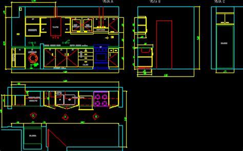 Design Cad Vorlagen Detalle De Muebles De Cocina En Dibujo De Autocad Bibliocad