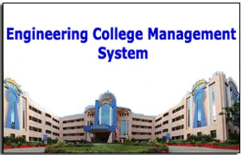 Mba In System Management Colleges by Engineering College Management System Vb Project