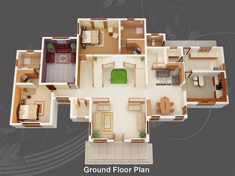 3d house designs and floor plans image for free home design plans 3d wallpaper desktop