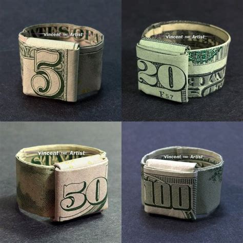 How To Make Origami Ring - money origami origami and money on