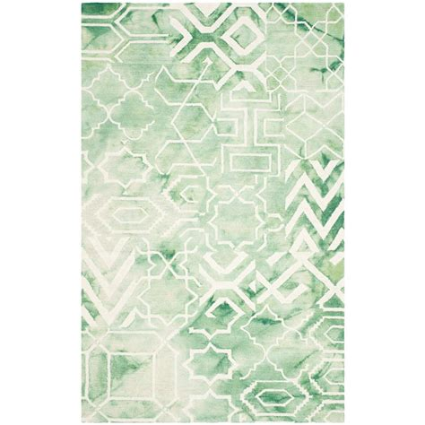can you dye an area rug safavieh dip dye green ivory 4 ft x 6 ft area rug ddy678q 4 the home depot