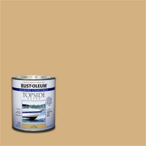 rust oleum marine 1 qt sand beige gloss topside paint of 4 207003 the home depot