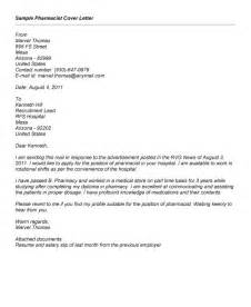 intern pharmacist cover letter sample - Pharmacist Cover Letter Example