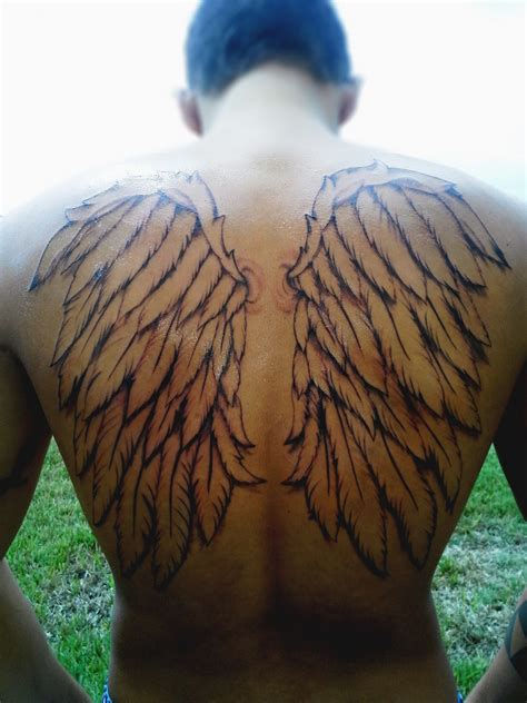 angel with wings tattoo wing tattoos designs ideas and meaning tattoos