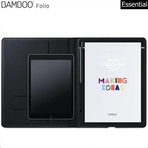 Drawing Pad Wacom Bamboo Folio Small wacom bamboo folio smartpad unbox my