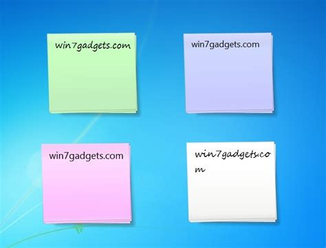 from the desk of sticky notes sticky notes windows 7 desktop gadget