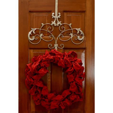 Wreath Door Hanger by Silver Scroll Wreath Hanger 56210 Mardigrasoutlet