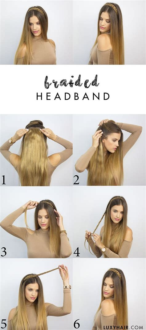 back to school hairstyles luxy hair heatless hairstyle for back to school braided headband