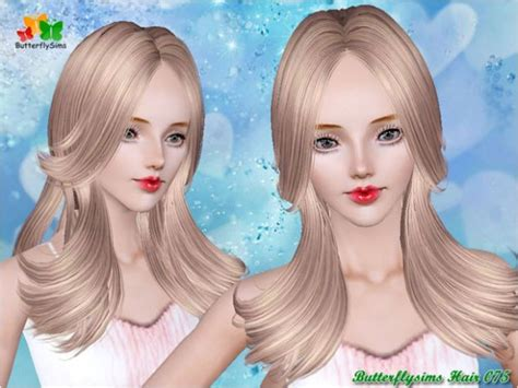 three dimension hair cuts the sims 3 dimensional layers hairstyle hair 075 by butterfly