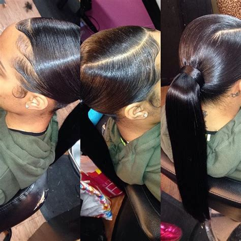 slick back weave hairstyles 285 best images about buns and ponytails on pinterest