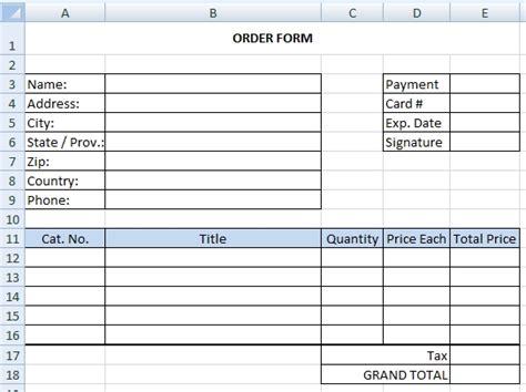 simple order form how to create drop menu in excel worksheet excel