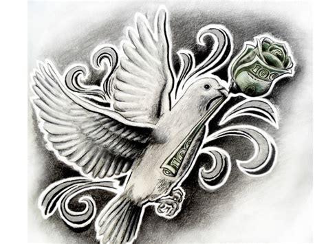 tattoo designs under 100 dollars 100 dollar dove by emword on deviantart