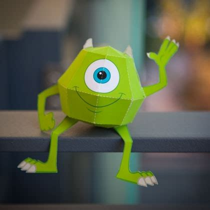 Papercraft Monsters - mike wazowski 3d papercraft disney family