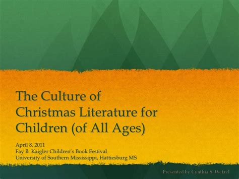 the culture of christmas literature for children of all ages