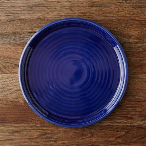 farmhouse blue dinner plate crate  barrel